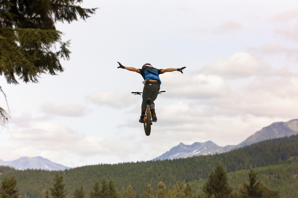 Giant Athletes Dusty and Ethen Roberts Enjoy the Whistler Bike Park