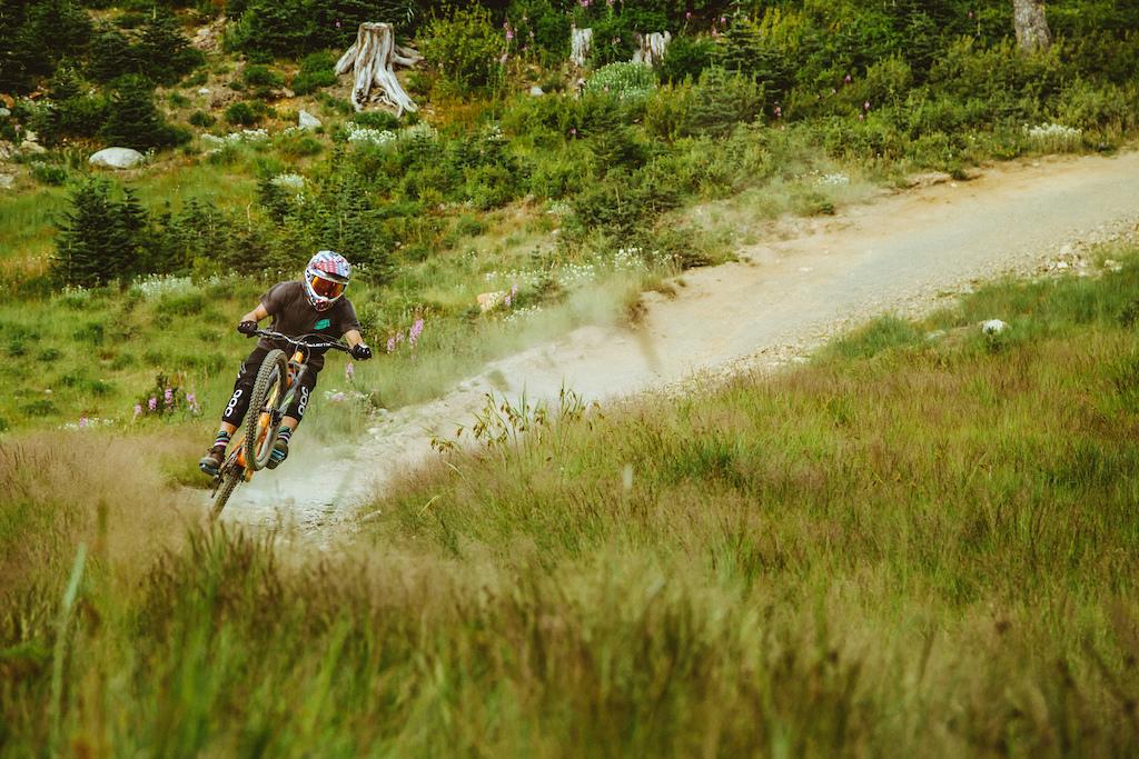 Giant Athletes Dusty and Ethen Roberts Enjoy the Whistler Bike Park
