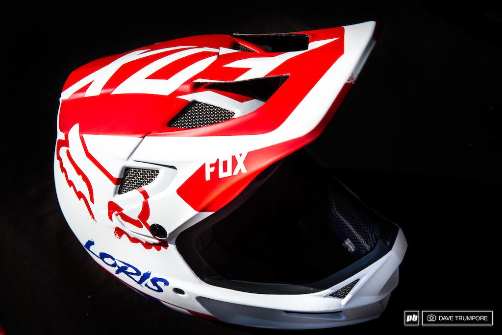 Loris Vergier's custom FOX helmet