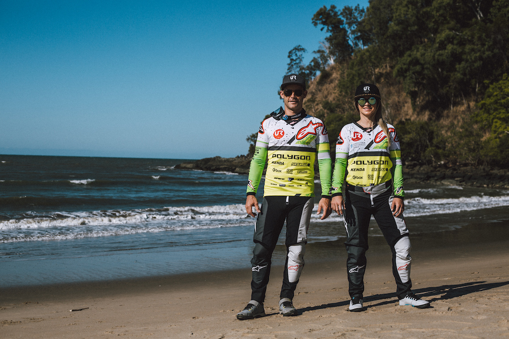 Mick and Tracey Hannah have Alpinestars kit done up n the colors of Australia