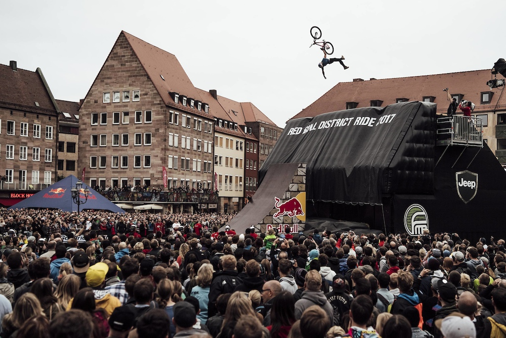 Szymon Godziek of the Poland performs during the qualification of the Red Bull District Ride 2017 in Nuremberg Germany on September 1st 2017 Marc M ller Red Bull Content Pool P-20170901-11691 Usage for editorial use only Please go to www.redbullcontentpool.com for further information.