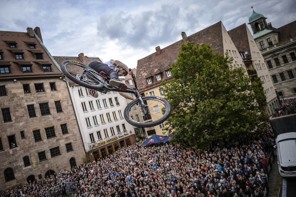 Anthony Messere of the Canada performs during the finals of the Red Bull District Ride 2017 in Nuremberg Germany on September 2nd 2017 Sebastian Marko Red Bull Content Pool P-20170902-28881 Usage for editorial use only Please go to www.redbullcontentpool.com for further information.
