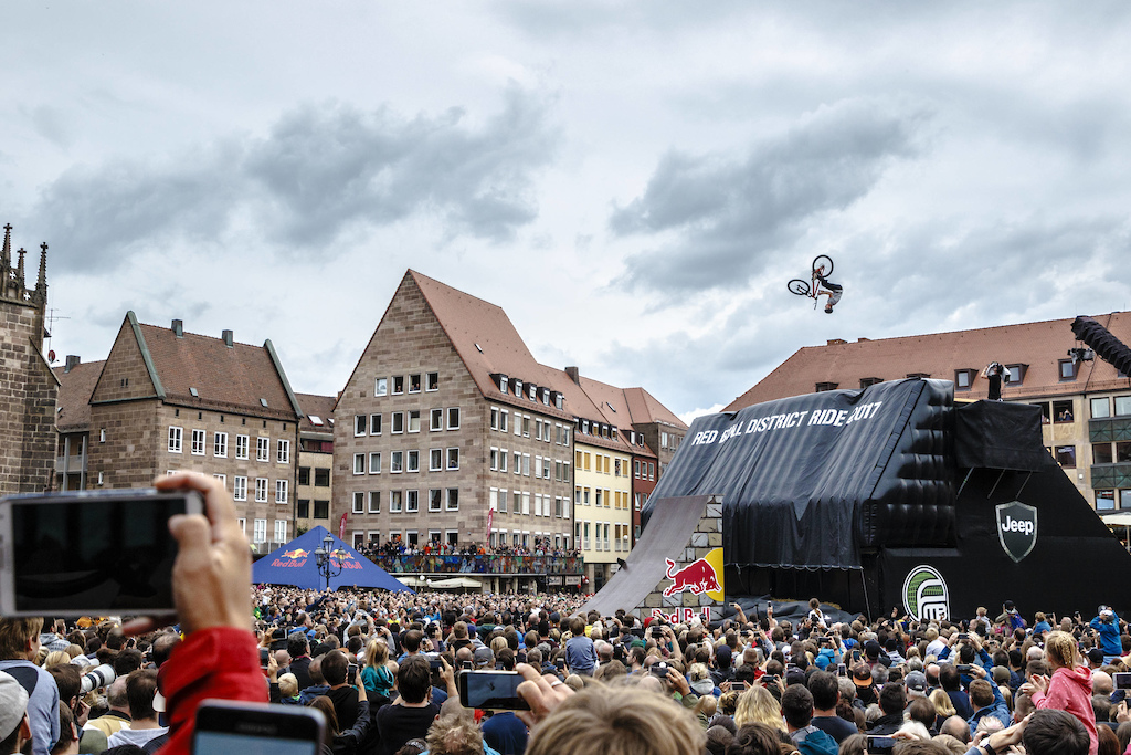 Erik Fedko of the Germany performs during the finals of the Red Bull District Ride 2017 in Nuremberg Germany on September 2nd 2017 Flo Hagena Red Bull Content Pool P-20170902-29097 Usage for editorial use only Please go to www.redbullcontentpool.com for further information.