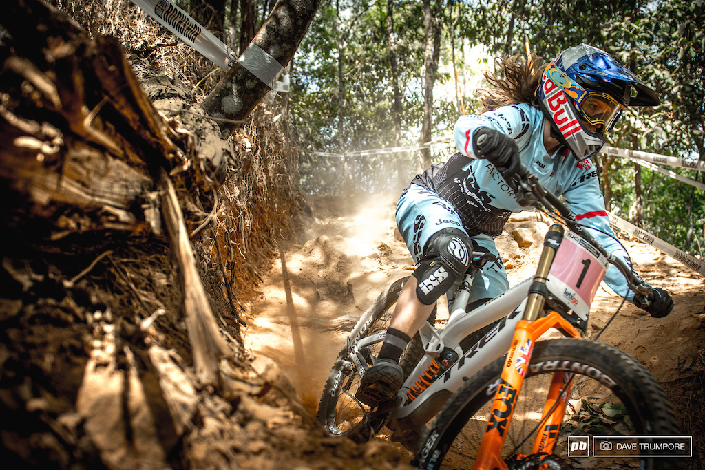 Rachel Atherton looked up to speed in a hurry and won t be giving up those rainbow stripes without a fight.