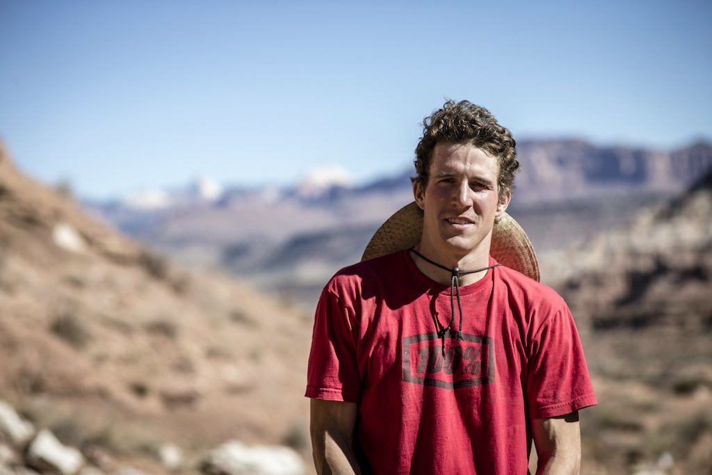 James Doerfling poses for a portrait during the Red Bull Rampage in Virgin UT USA on 12 October 2015. Christian Pondella Red Bull Content Pool P-20151014-00017 Usage for editorial use only Please go to www.redbullcontentpool.com for further information.