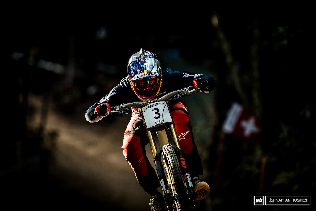 Aaron Gwin has the potential to win on any track in any conditions and these were perhaps the most akin to his native California. On the day 3rd would have to do and he would certainly take it his best ever World Champs performance.