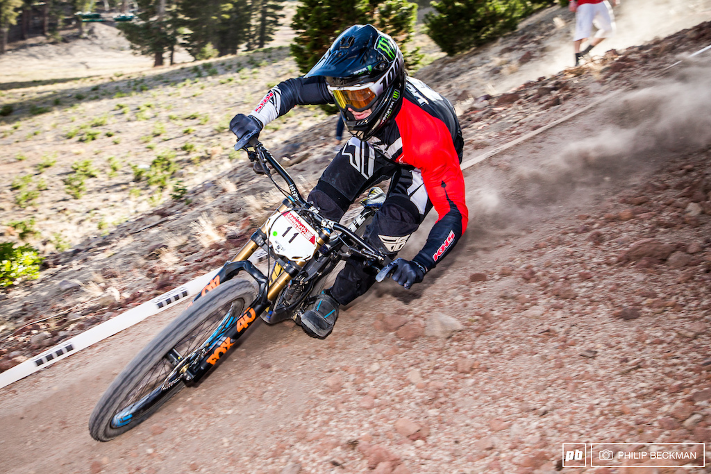 KHS Factory Racing s Bruce Klein laid down a scorching time to top Pro Men s Downhill seeding.