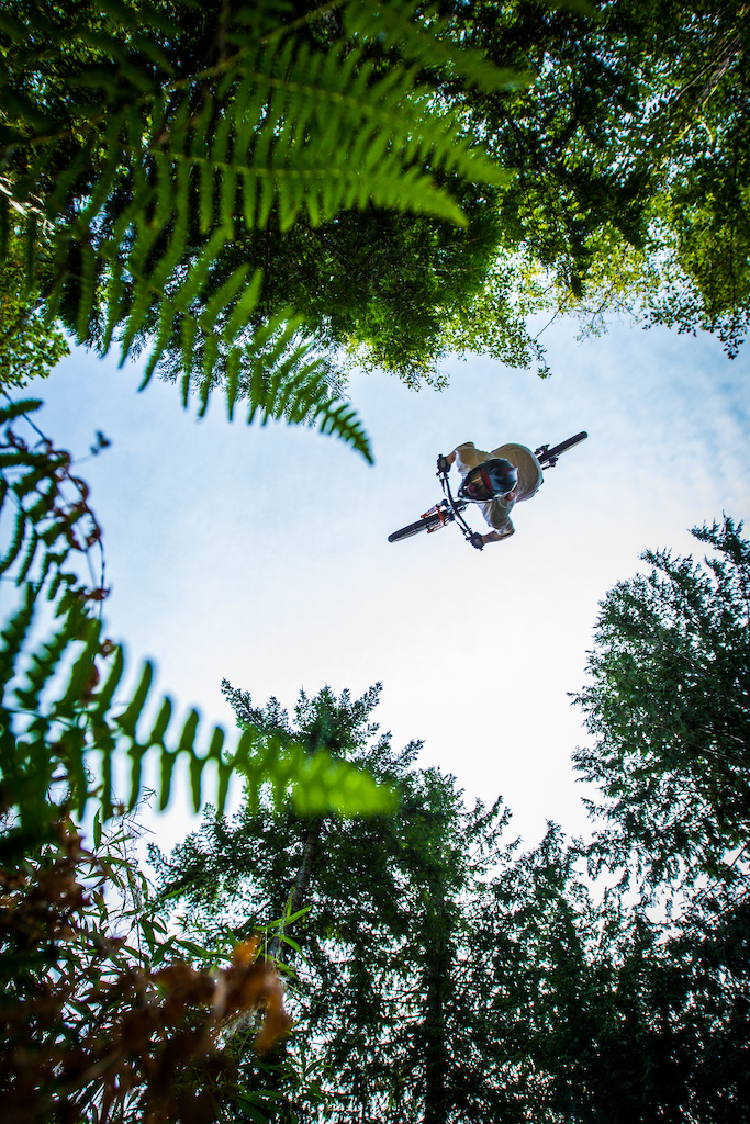 Tom Van Steenburgen getting upside down at the Backwoods Jam.