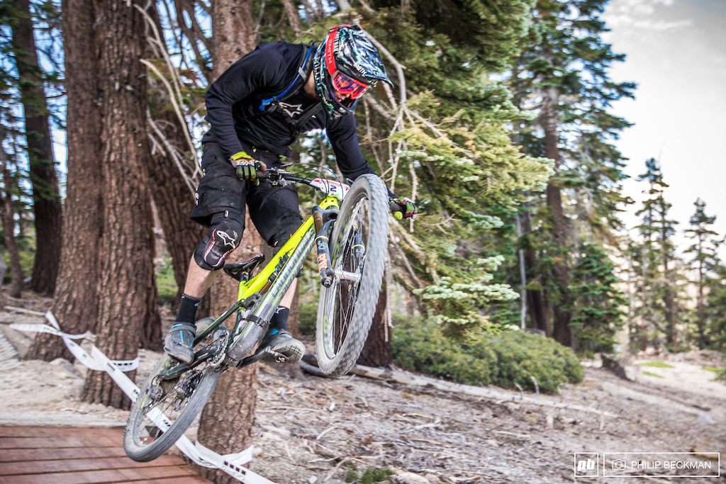 Top of the charts at the Kamikaze Bike Games Enduro was Cannondale WTB rider Marco Osborne setting fast time of the day with a 37 00.40.