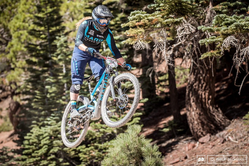 Amy Morrison Marin WTB had an awesome weekend placing second in the Pro Women s class in the Enduro just one day after winning the Pro GRT Downhill.