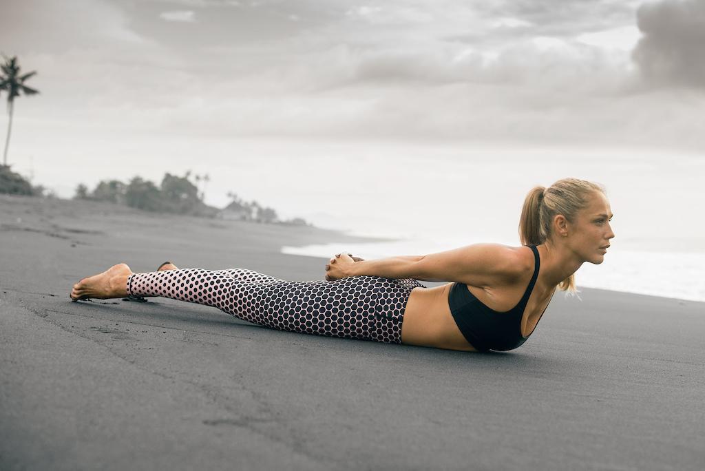 Yoga to relieve neck pain. Photo credit danielronnback