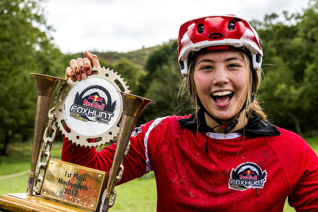 First place Mille Johnset celebrates after Red Bull Foxhunt in Wales UK on October 8 2017 Olaf Pignataro Red Bull Content Pool P-20171008-01936 Usage for editorial use only Please go to www.redbullcontentpool.com for further information.