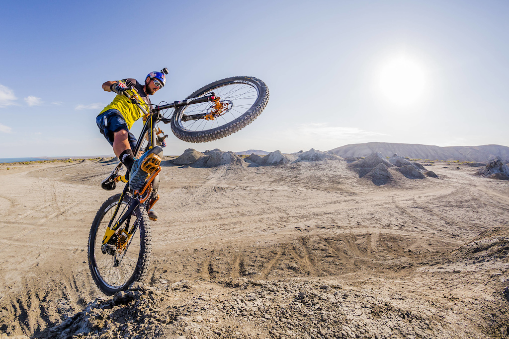 Kenny Belaey Rides at Gobustan Rock Art Cultural Reserve in Baku, Azerbaijan on July 13, 2017 // Nikoloz Paniashvili / Red Bull Content Pool // P-20171009-00608 // Usage for editorial use only // Please go to www.redbullcontentpool.com for further information. //