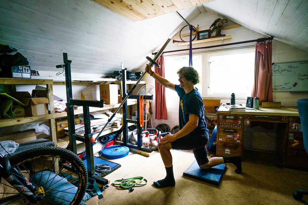 At the highest level mountain bikers have to hit the weights to make it through all of the stages of an EWS round.