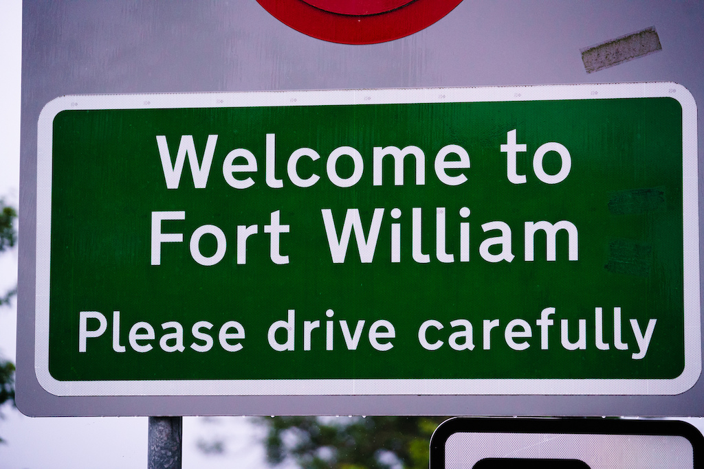 Out and about in Fort William.