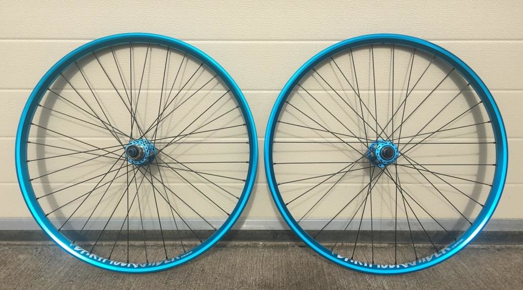 2017 Slam69Built Dartmoor Wheelset - QR - Turquoise Blue