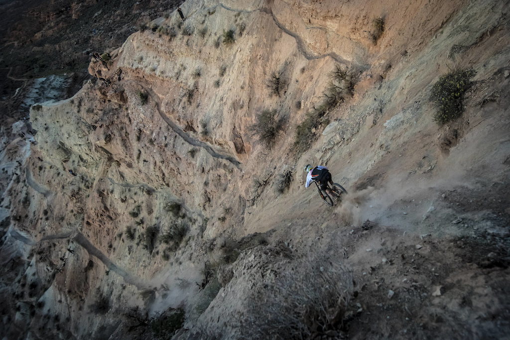 Jame Doerfling rides during Red Bull Rampage in Virgin UT USA on 13 October 2016. Christian Pondella Red Bull Content Pool P-20161014-00364 Usage for editorial use only Please go to www.redbullcontentpool.com for further information.