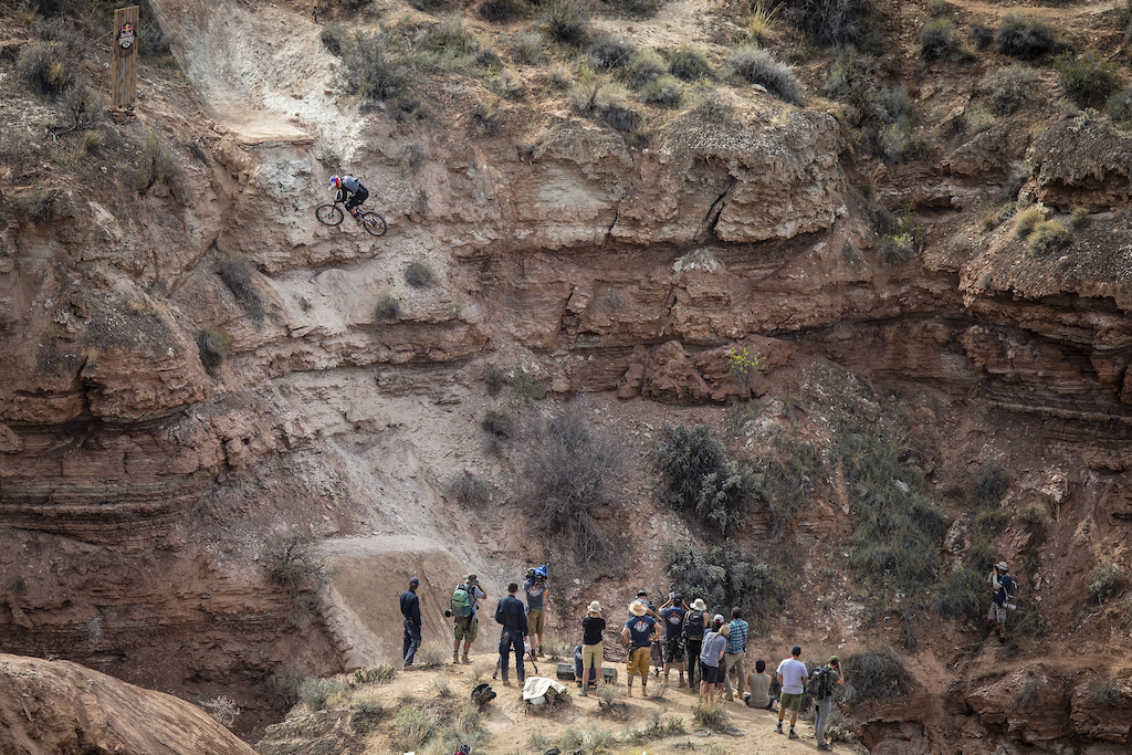 Carson Storch rides during Red Bull Rampage in Virgin UT USA on 14 October 2016. Christian Pondella Red Bull Content Pool P-20161015-00433 Usage for editorial use only Please go to www.redbullcontentpool.com for further information.