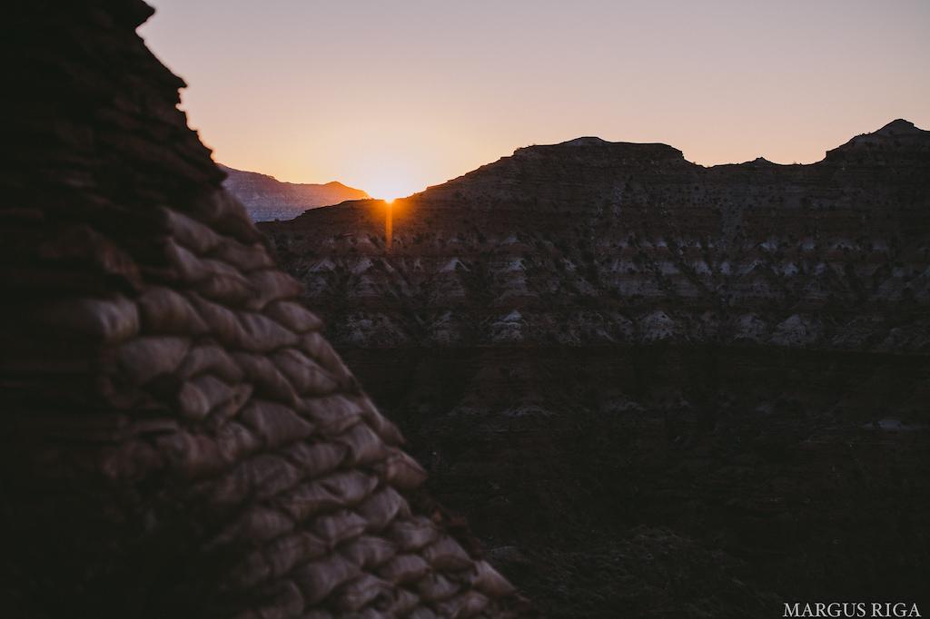 Sandbags and sunsets.