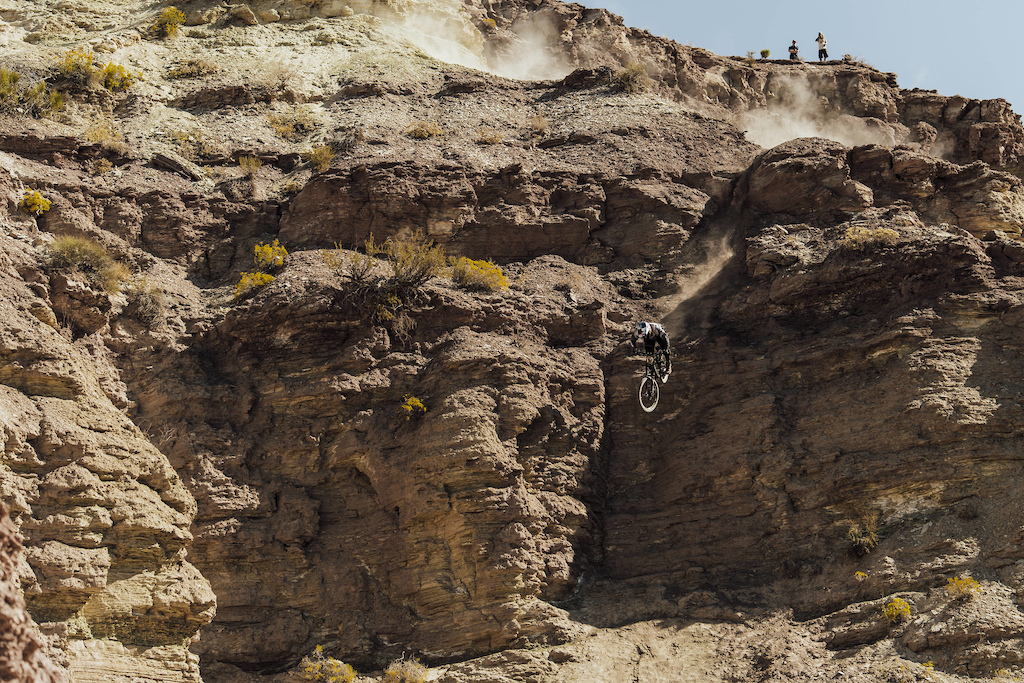 Carson Storch competes at Red Bull Rampage in Virgin Utah on October 27th 2017 Bartek Wolinski Red Bull Content Pool P-20171028-00820 Usage for editorial use only Please go to www.redbullcontentpool.com for further information.