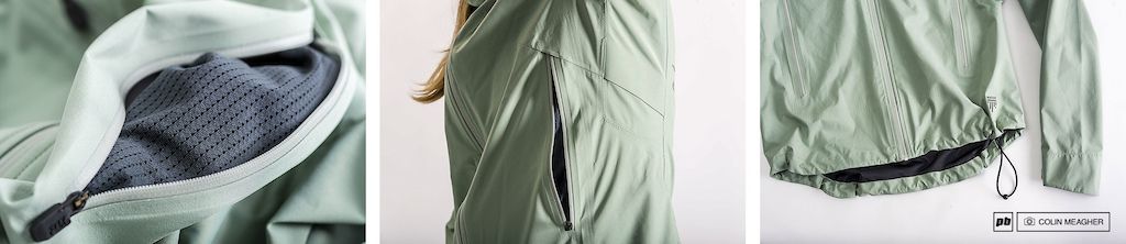 Fox Head Women s Attack Water Jacket features mesh zippered pockets underarm ventilation and a drop tail.