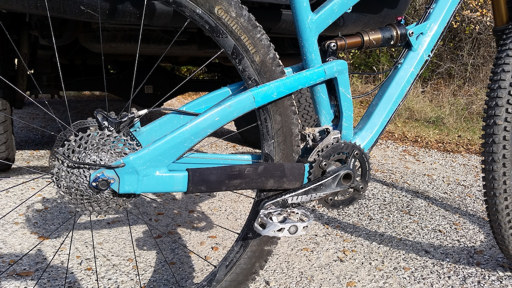 Exploded my rear derailleur, snapped the hanger and cable. Luckily didn't break any rear spokes in the process! Rode chainless back down the downhills... Ordering new parts for a 1X drivetrain now!!!