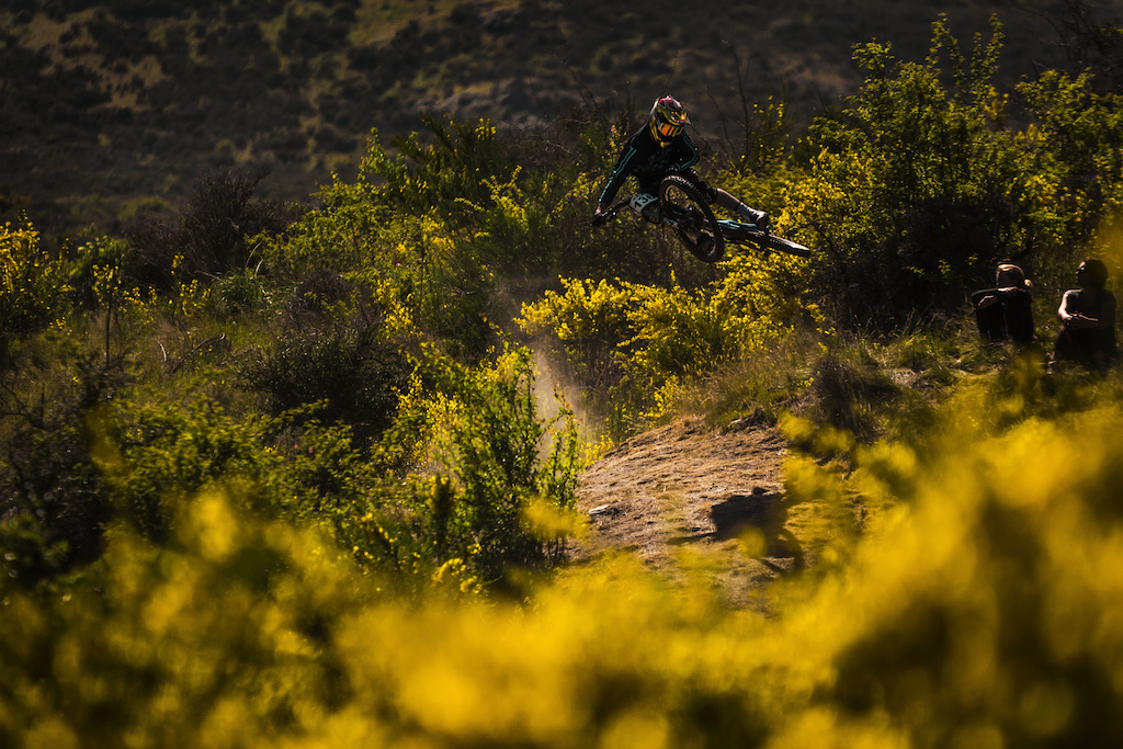 15 year old Finn Hawkesby-Browne at the local remarks dh race
