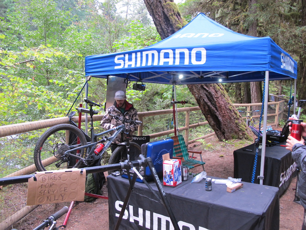 Shimano was on hand to provide neutral support to all athletes and vollies .