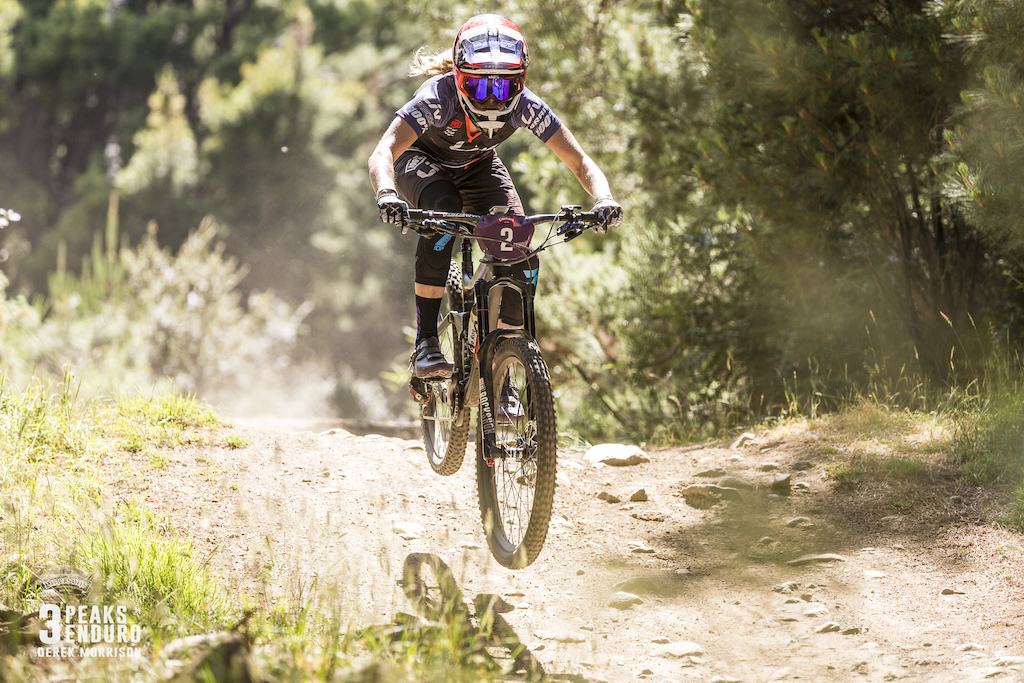 Rae Morrison trying her best to take top spot at the 2017 Emerson s 3 Peaks Enduro in Dunedin New Zealand.