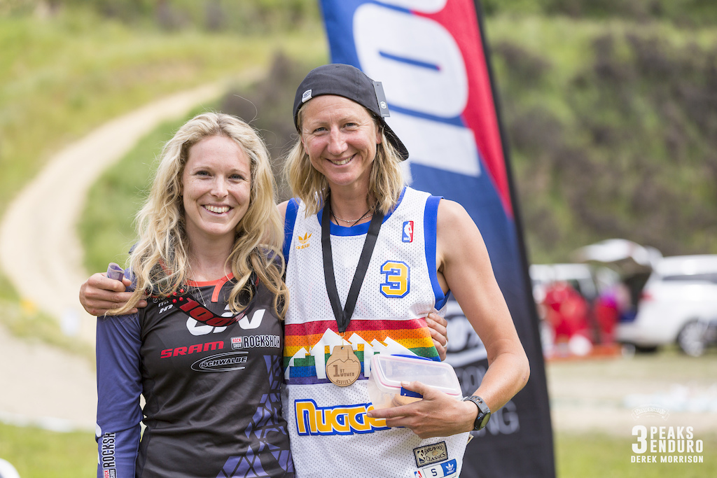 Rae Morrison and Mops Newell stoked after racing in the sixth edition of the Emerson s 3 Peaks Enduro mountain bike race held in the hills above Dunedin New Zealand at the weekend December 02-03 2017 .