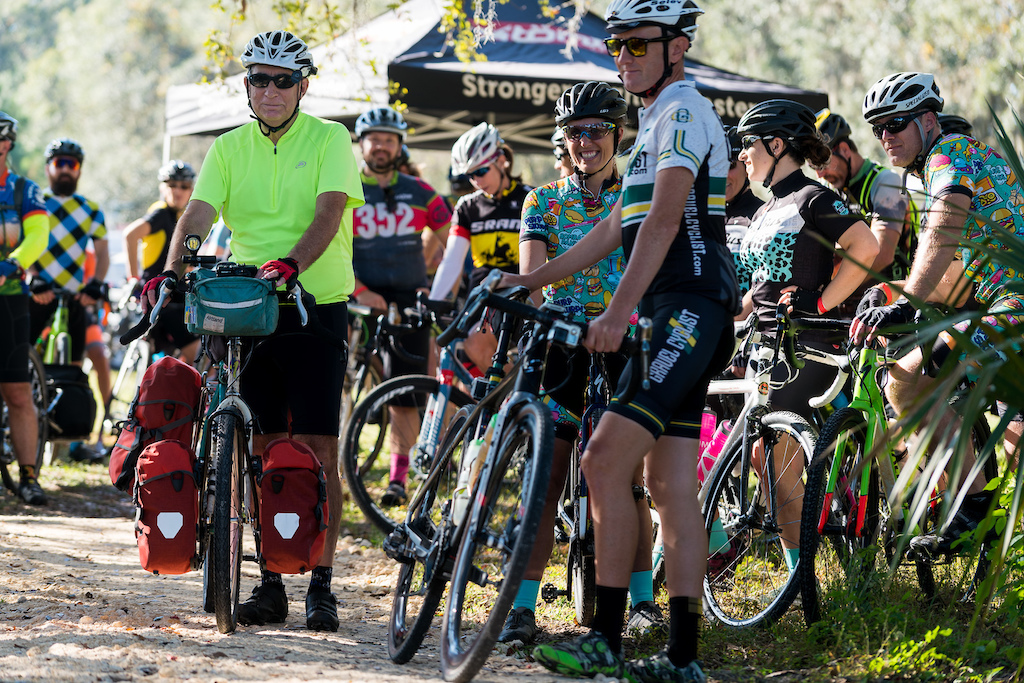 The Rocks Roads Reggae gravel bikepacking ride was supported so riders could choose whether they wanted to carry their overnight gear with them or just throw it in the trailer.