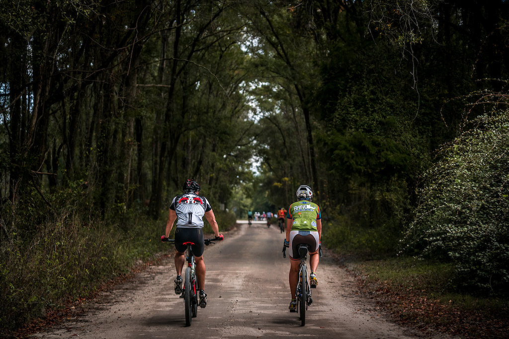 Rocks Roads Reggae Gravel Bikepacking event in Gainesville Florida.