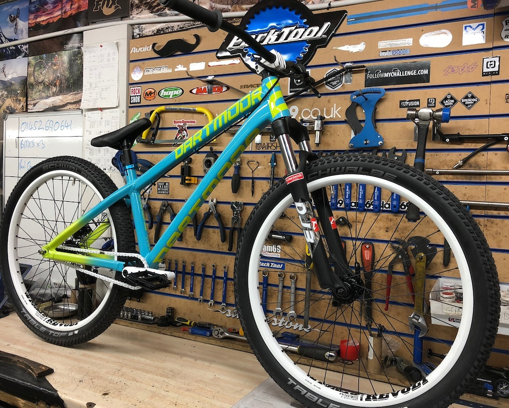 2018 NEW Dartmoor Two6Player (Cyan Lime White) Custom Bike