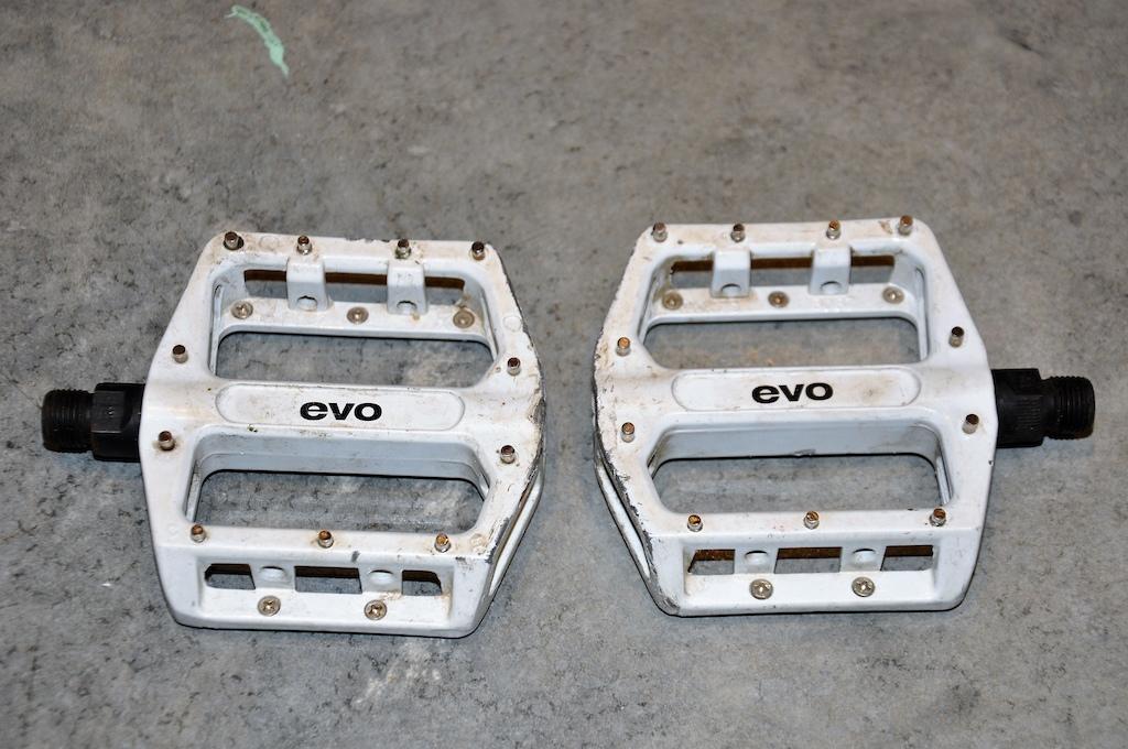 0 EVO flat pedals DH MTB White