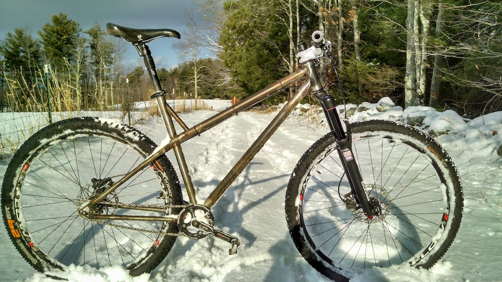 hardtail out playing in the snow!