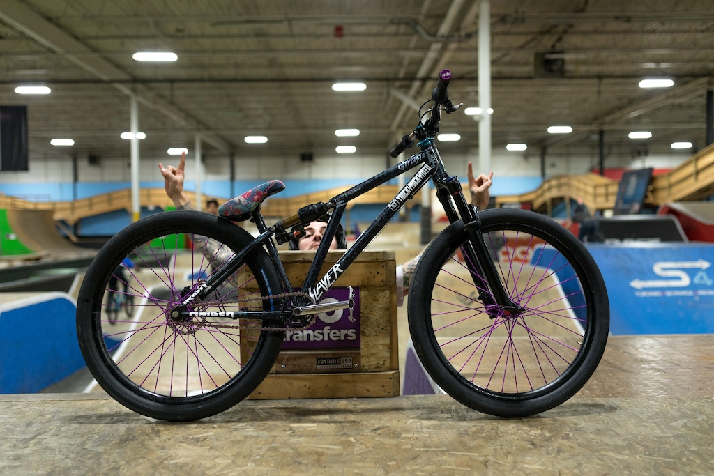 the weapon of mass destruction known as the Altruiste Zydeco steel slopestyle bike. Broderick Horne photo. Photatoes