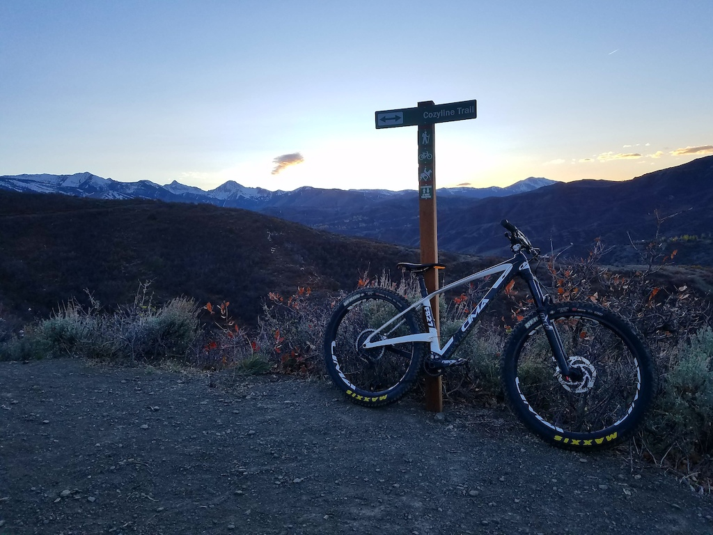 Picture at the top of Airline/Cozyline Trail in Snowmass, CO right as the sun was setting.