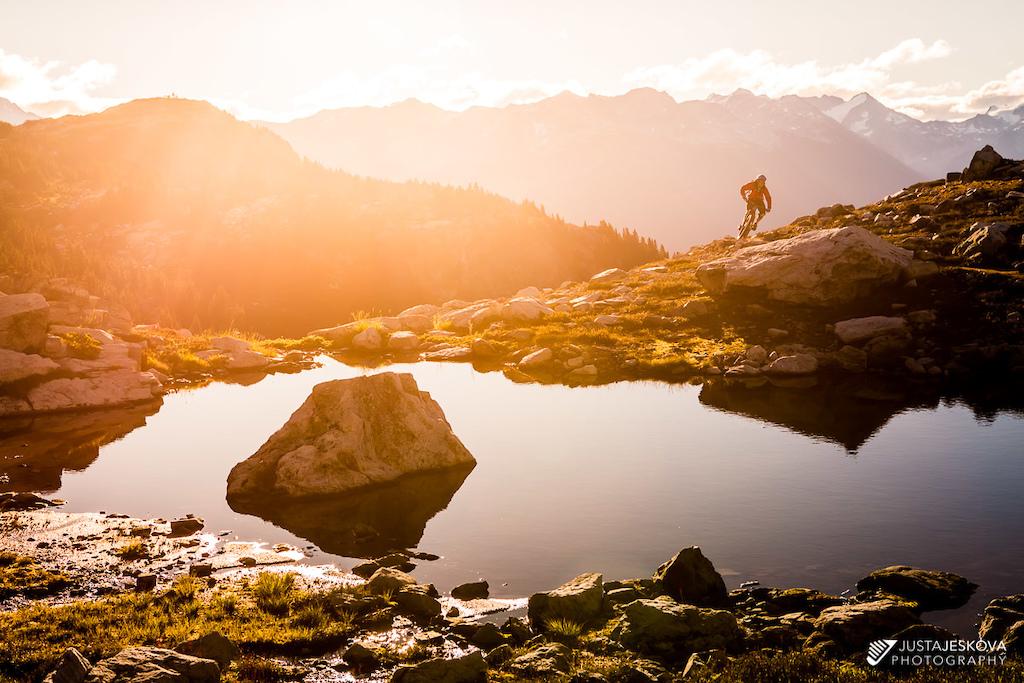 Sunrise in Whistler alpine.