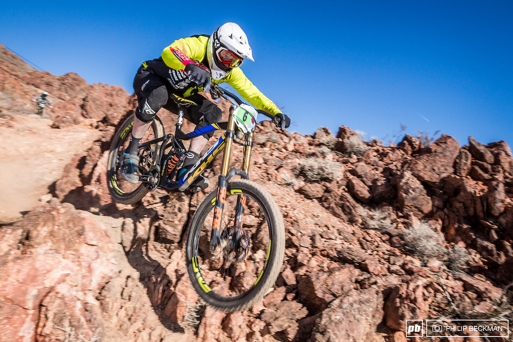 The Open Men s class fell to the cagey veteran Quinton Spaulding KHS Factory Racing by less than one second.