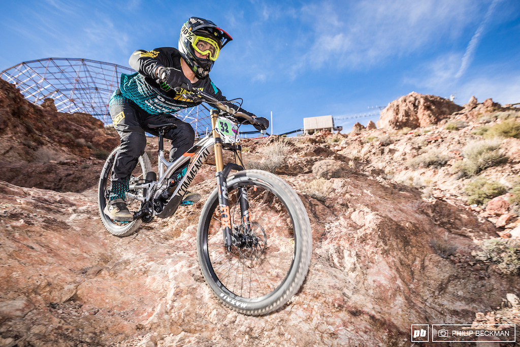Neo Pro Steven Walton Commencal missed the top step by less than two seconds.