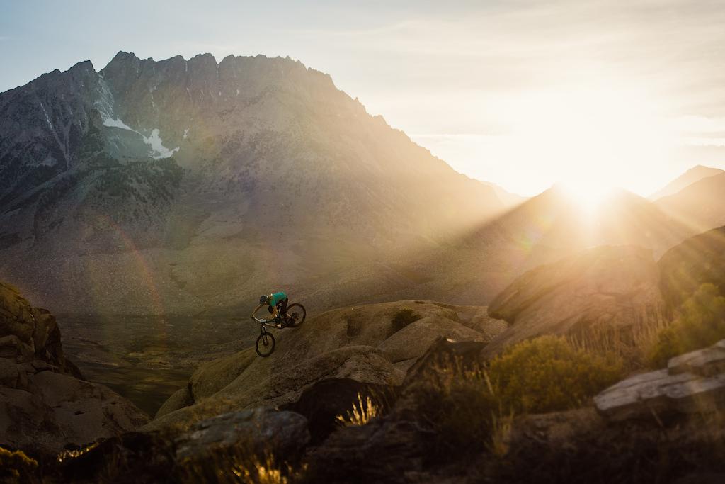 Lines in the sand beneath the rugged, awe-inspiring grandeur of the Eastern Sierra Nevada.