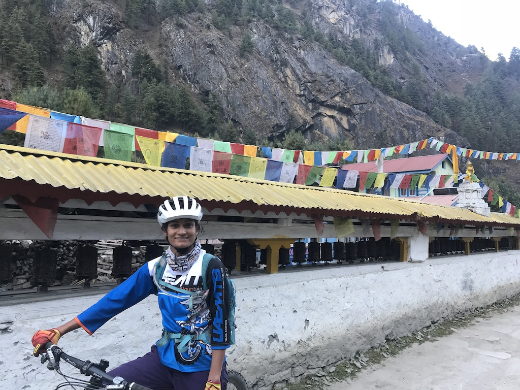Nepali mountain bike guide Usha Khanal.