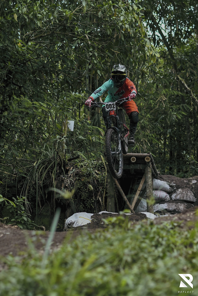 Racing in the middle of Bambooland Bikepark
