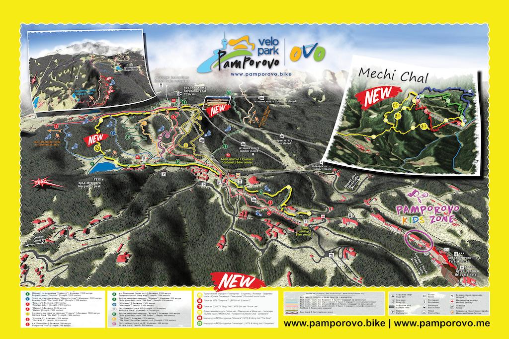 Pamporovo - Mechi Chal Bike Map