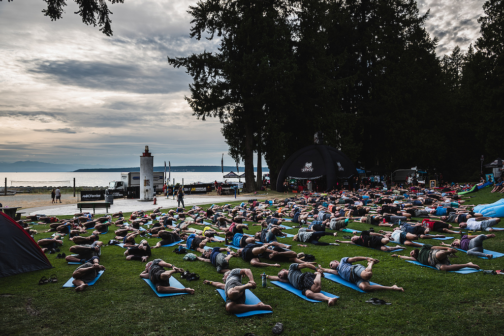 Yoga by the sea is just one of the perks of the BCBR.