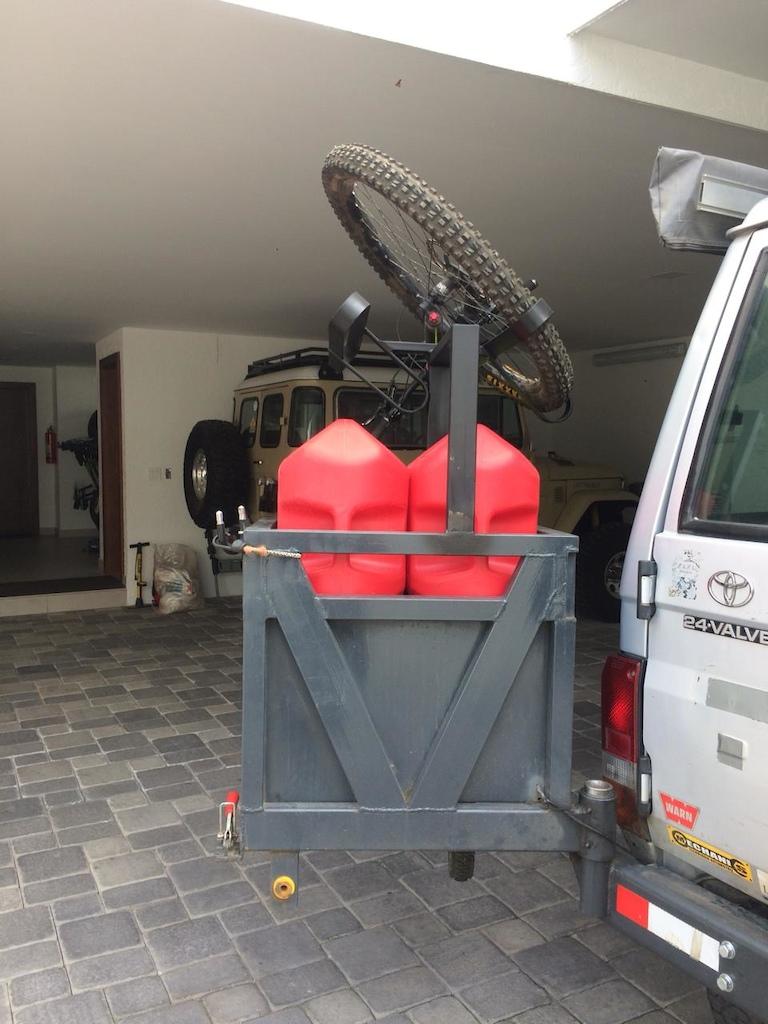 My Home made bike rack