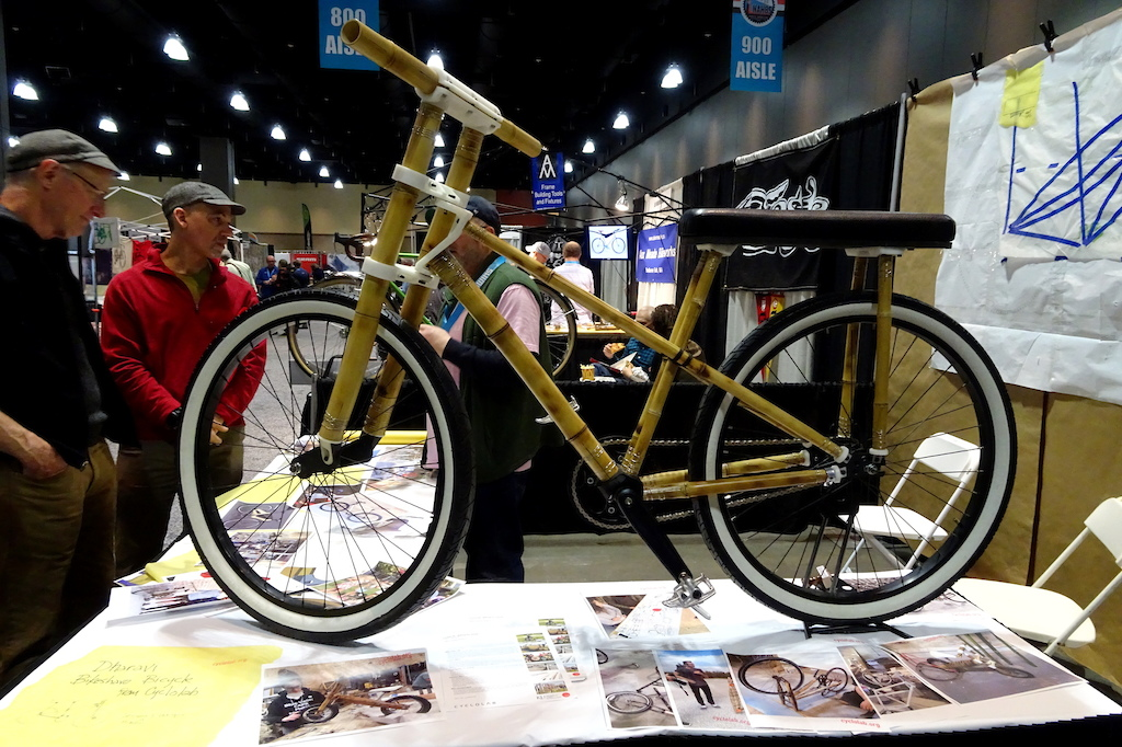 NAHBS 2018 Not every bike at the show was a showpiece. This example from the University of Kansas was purposefully low tech.