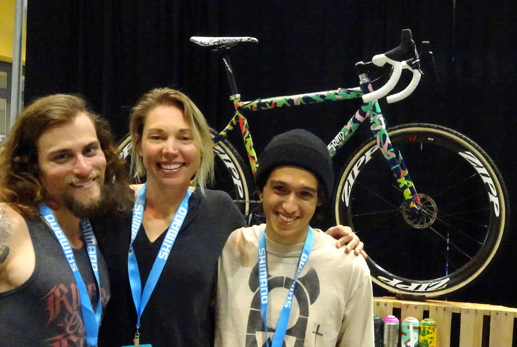 NAHBS 2018 Squid Cycles Rider Anthony Clark Partner Emily Kachorek and Designer Chris Namba
