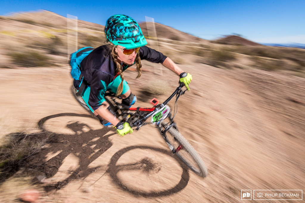 Stephanie McDaniel won the first stage of the Enduro and held on to place second overall in Pro Open Women.