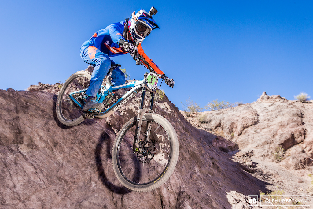 Ireland s Jacob Dickson Giant Factory Off-Road had never encountered rocks like he found at Bootleg. The World Cup rider adapted admirably to place third in Pro Men s Downhill.